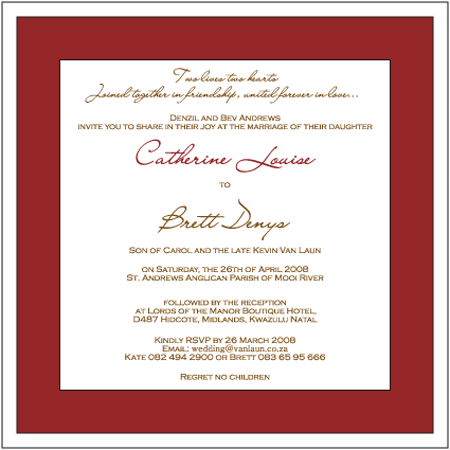 Two Lives Two Hearts Wedding Invitation Two Lives Two Hearts